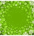 Christmas background of snowflakes in green colors vector image vector image