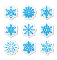 Christmas or winter Snowflakes icons vector image vector image