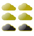 clouds with a yellow black stripes vector image