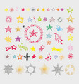 collection stars various shapes vector image