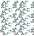 colorful retro hipsters triangle pattern vector image