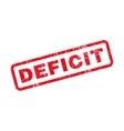 Deficit Text Rubber Stamp vector image