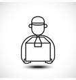 delivery man line icon vector image vector image