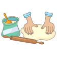 Dough vector image