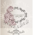 elegant wedding invitation card for design vector image