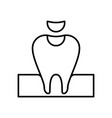 fill fix tooth icon vector image vector image