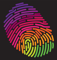 Finger Print Rainbow vector image vector image