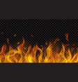 fire flame with horizontal repeat vector image vector image