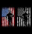 fireman flag american vector image vector image