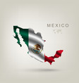 flag mexico as a country vector image