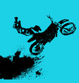 flying motorcycle image vector image vector image