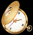 Gold chatelaine watch vector image