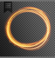 gold circle light effect on transparent background vector image vector image