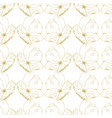 golden sketch briar decor seamless pattern vector image