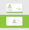 green business card with letter s vector image