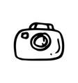 hand drawn camera symbol doodle icon vector image