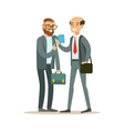 Happy Colleagues Best Friends Sharing The News vector image vector image