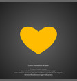 heart icon simple love valentine sign vector image