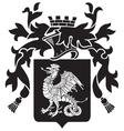 heraldic silhouette no36 vector image vector image