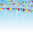 Holiday background with birthday flags and