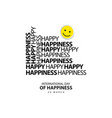 international day happiness template design vector image vector image