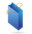 isometric icon paper bag vector image