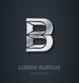 Letter B elegant silver font Template for company vector image