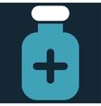 Medication Vial Icon vector image vector image