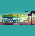 modern central station on city street vector image