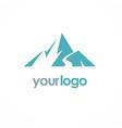 mountain volcano logo vector image vector image