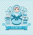 newborn little baby matryoshka vector image