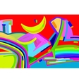 original digital art abstract colorful composition vector image vector image