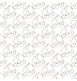 outline cupcakes seamless pattern Kawaii vector image