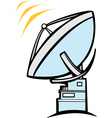 Radio Dish Telescope vector image vector image