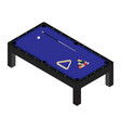 realistic pool table with set of billiard balls vector image vector image