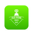 restaurant wine icon green vector image vector image