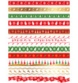 seamless borders for the christmas vector image vector image