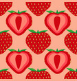 seamless pattern of strawberry fruit vector image vector image