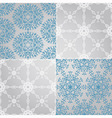Seamless Patterns with Snowflakes fully vector image vector image
