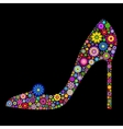 shoe on black background vector image
