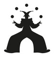 silhouette retro style clown juggling balls vector image