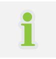 simple green icon - information symbol vector image vector image