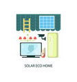 solar energy eco home vector image vector image