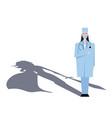 super woman doctor or nurse hospitals superhero vector image vector image