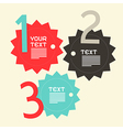 Three Steps Paper Infographics Flat Design Layout vector image vector image