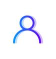 user blue purple gradient icon man symbol vector image vector image