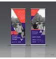 vertical banner template design vector image vector image