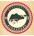 Vintage label-sticker cards of Singapore vector image vector image