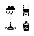 water aqua simple related icons vector image vector image