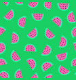 watermelon seamless pattern with green vector image vector image